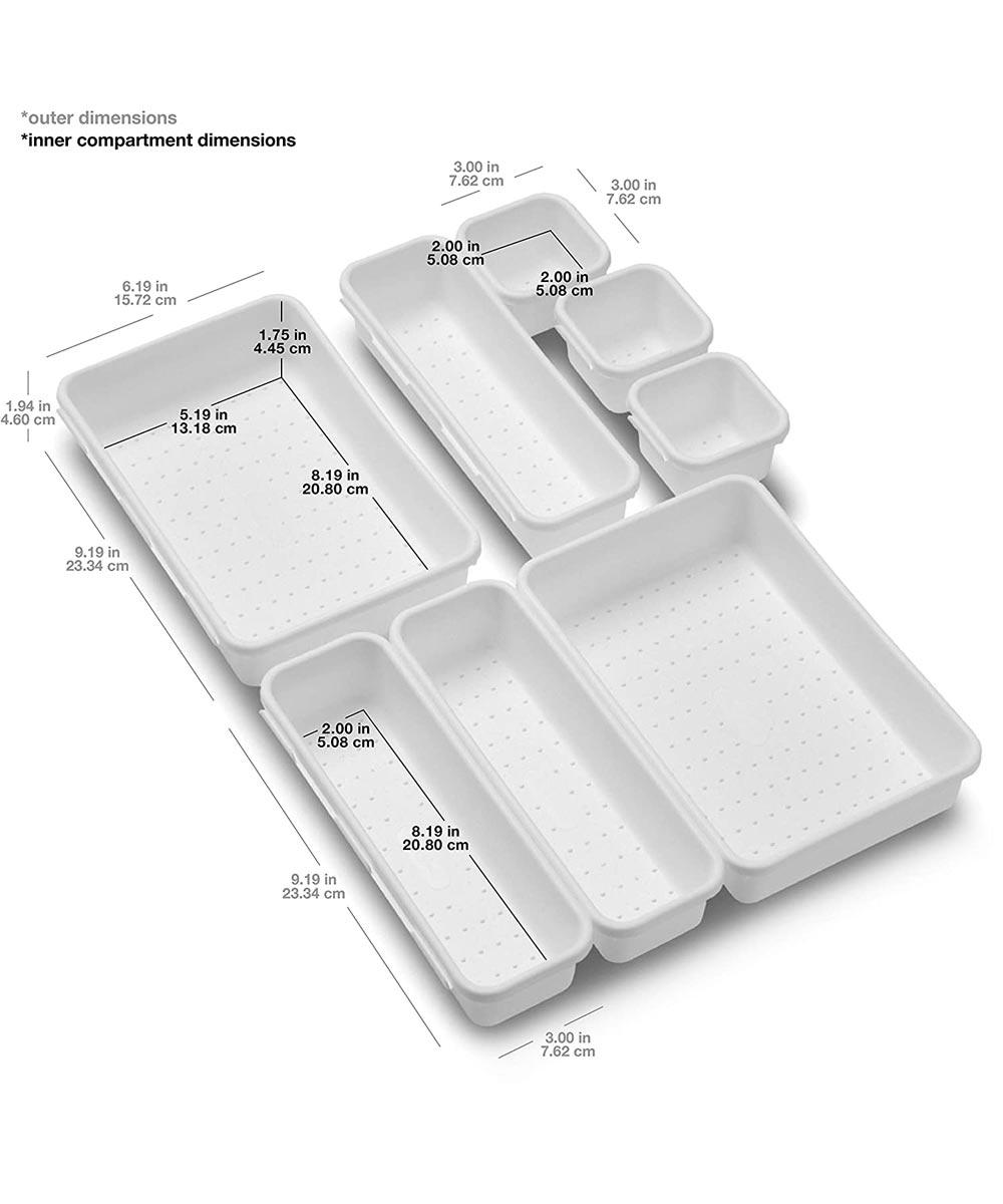8-Piece Interlocking Bin Pack, Frost
