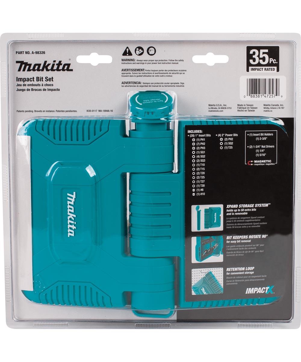 Makita ImpactX 35-Piece Driver Bit Set