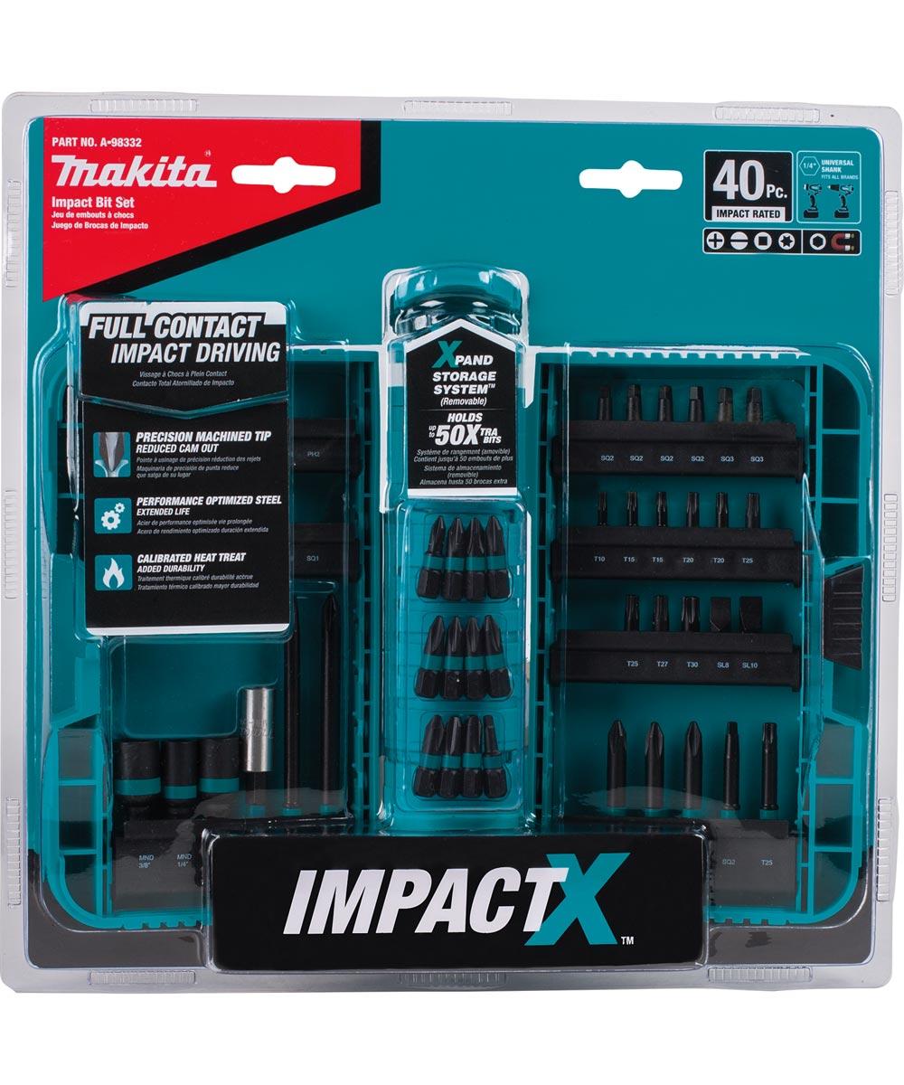 Makita ImpactX 40-Piece Driver Bit Set