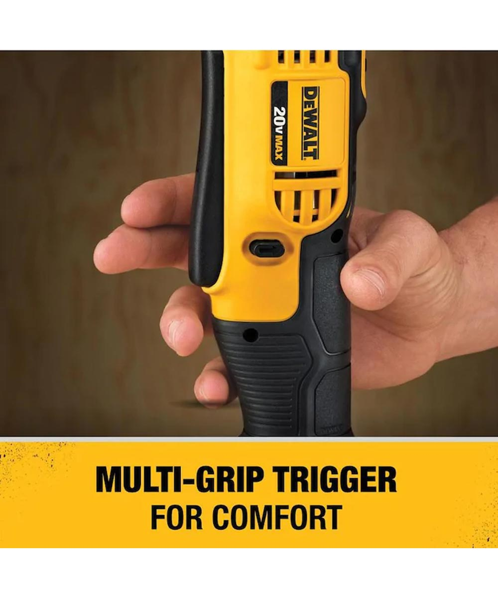 DEWALT 20V MAX* Cordless 3/8 in. Right Angle Drill/Driver, Tool Only (No Battery or Charger)