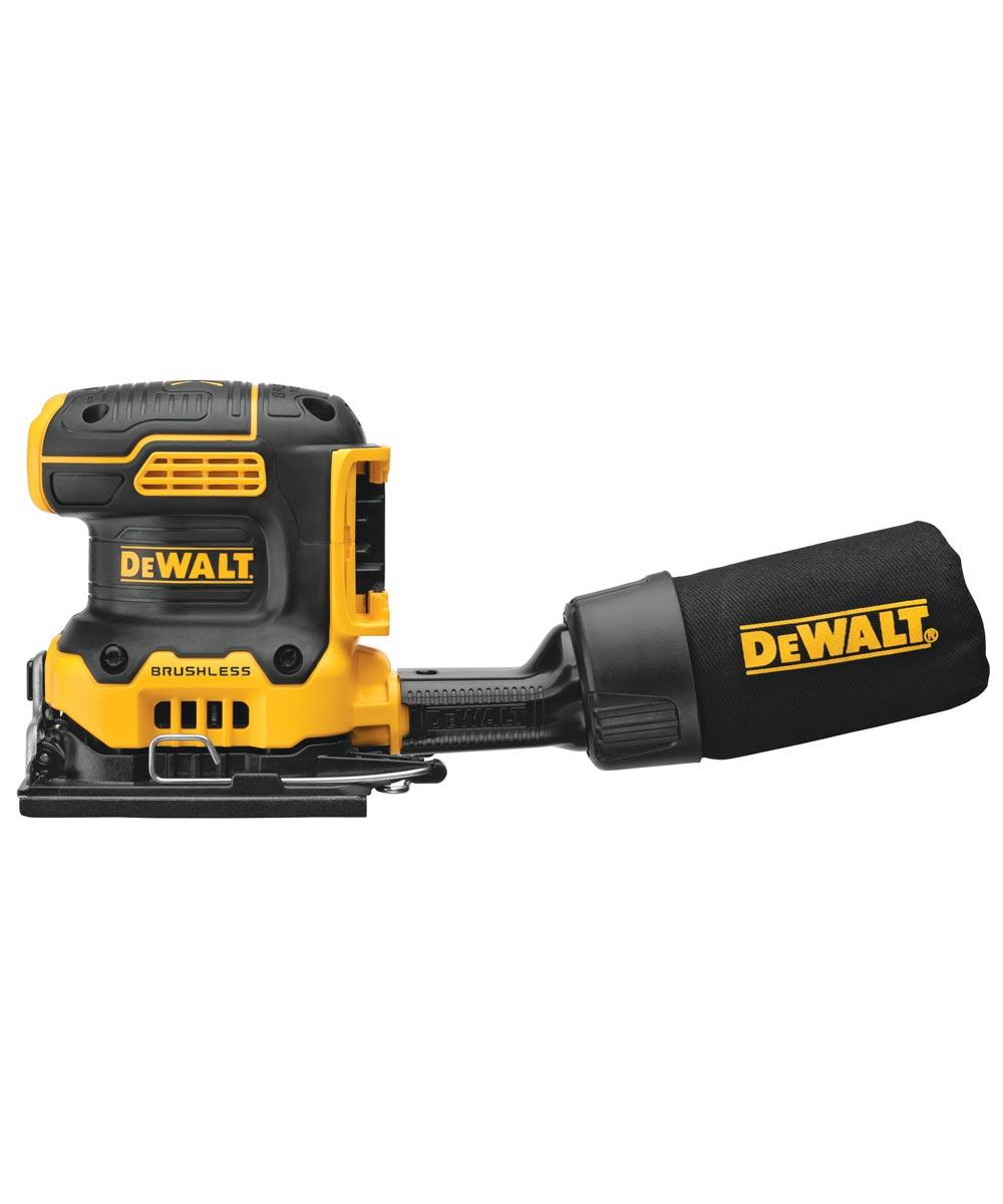 DEWALT 20V MAX* XR Brushless Cordless 1/4 Sheet Variable Speed Sander, Tool Only (No Battery or Charger)