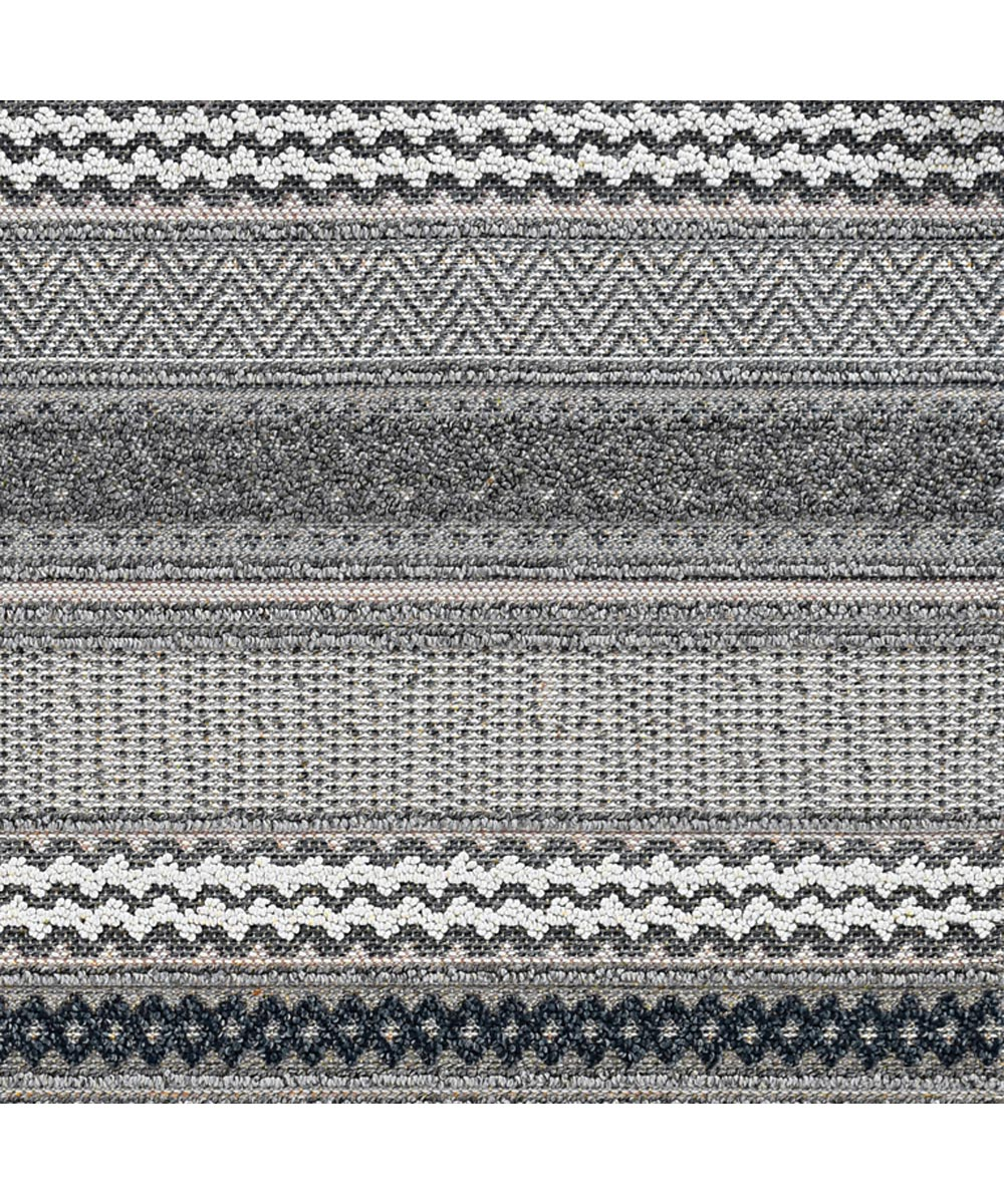 KAS 2 ft. 7 in. x 7 ft. 9 in. Terrace Taupe Runner Rug