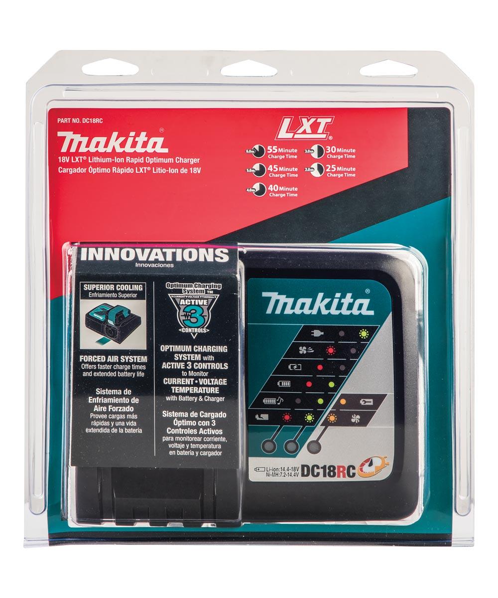 Makita 18V LXT Lithium‑Ion Rapid Optimum Charger