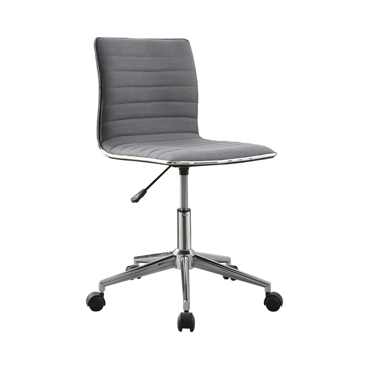 Low-Back Adjustable Height Fabric Uphostery Office Chair, Gray/Chrome