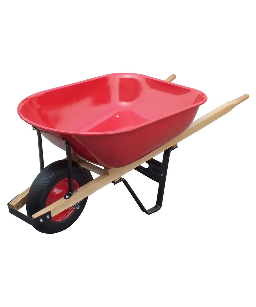 6 cu. ft. 18 Gauge Heavy Duty Steel Tray Wheelbarrow