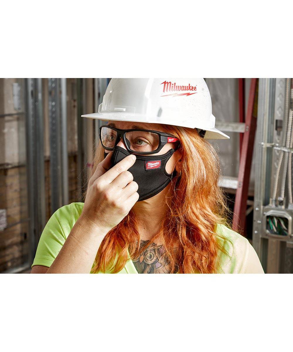 Milwaukee 3-Layer Performance Face Mask, Large / X-Large, Black
