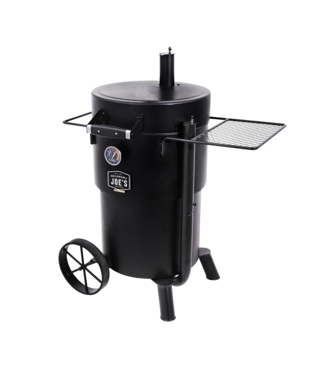 Oklahoma Joe's Bronco Charcoal Drum Smoker Grill, Black