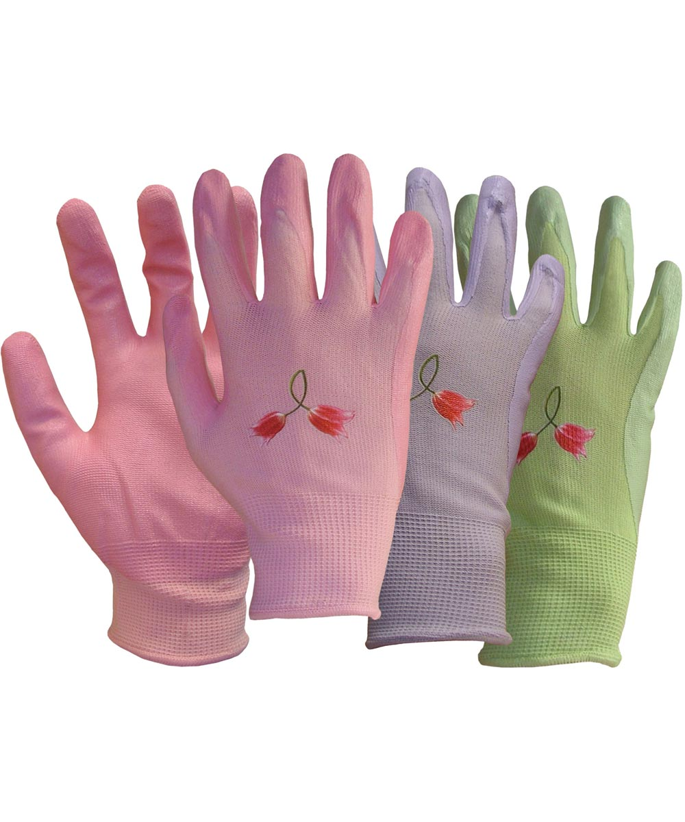 Medium Assorted Colors Nylon Knit With Nitrile Gloves