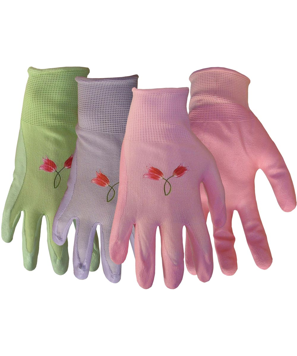 Large Assorted Colors Nylon Knit With Nitrile Gloves