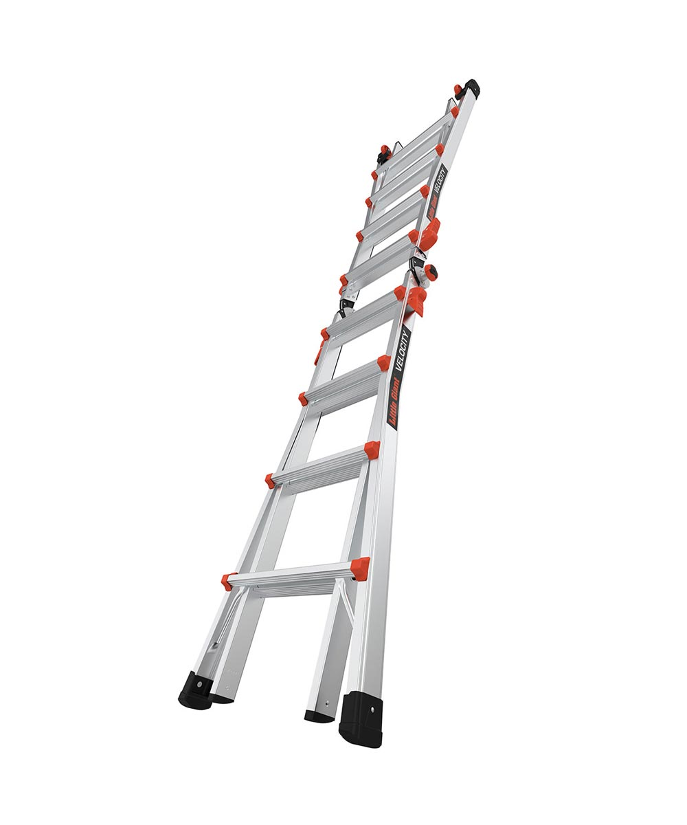 Little Giant Velocity 17 ft. Articulated & Extendable Aluminum Ladder with Tip & Glide Wheels, Type IA 300 lb. Load