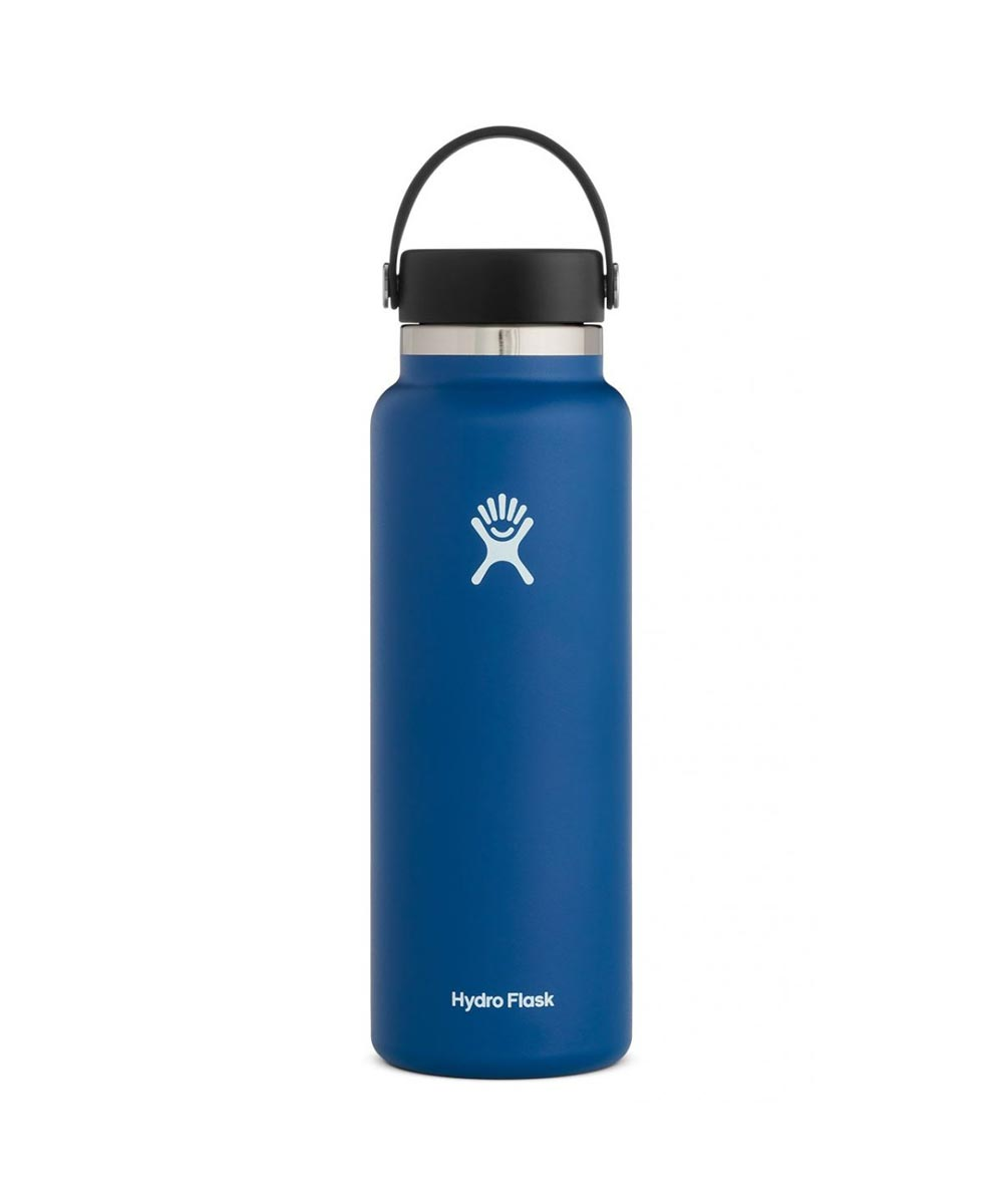 Hydro Flask 40 oz. Wide Mouth Water Bottle, Stainless Steel & Vacuum Insulated, Cobalt