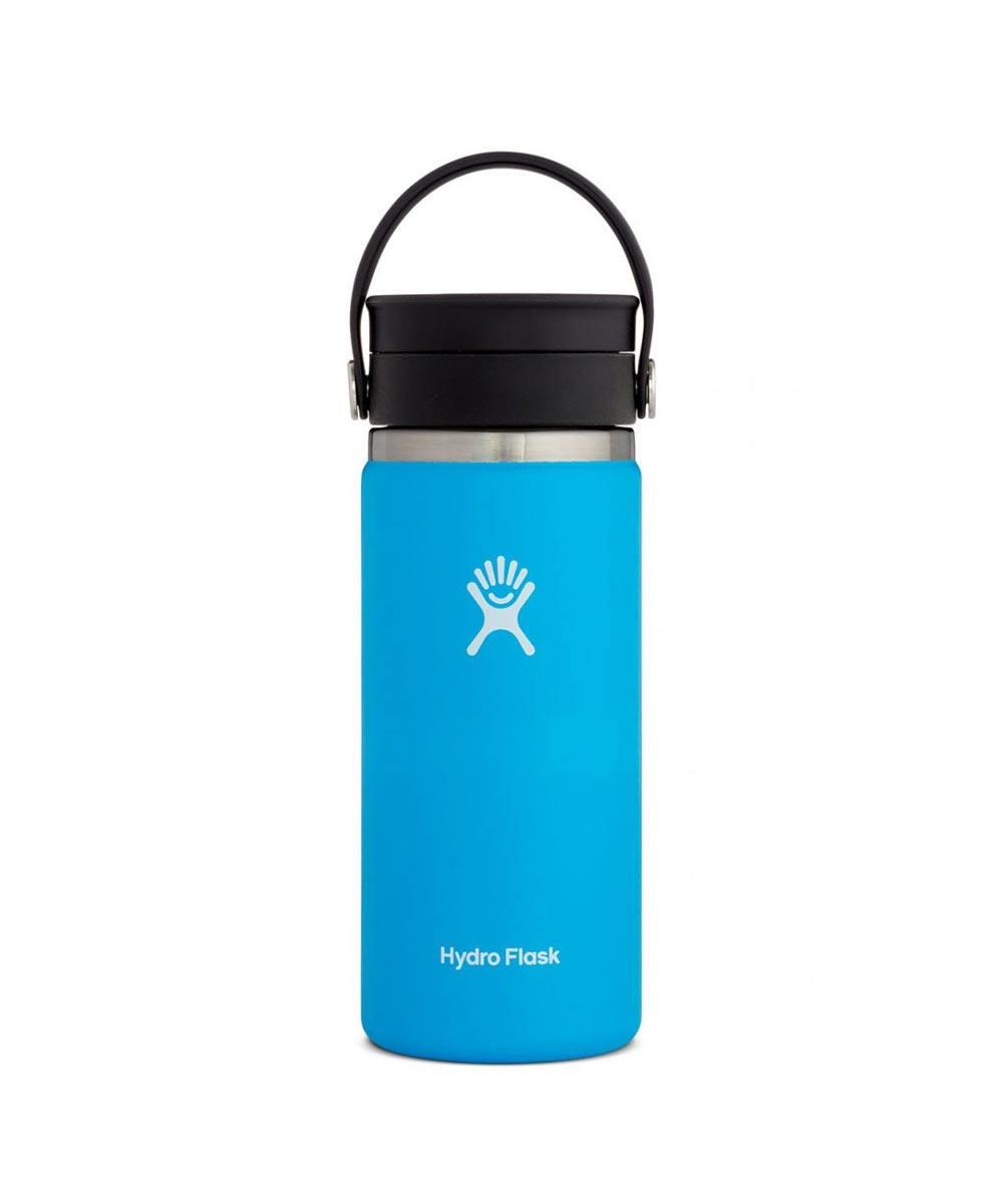 Hydro Flask 16 oz Wide Mouth Coffee with Flex Sip Lid, Stainless Steel & Vacuum Insulated, Pacific