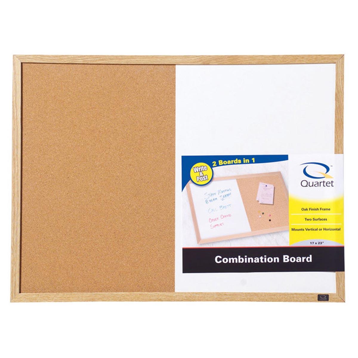 Quartet 17 in. x 23 in. Screw-Mounted Combo 2-in-1 Cork Bulletin & Dry Erase Board