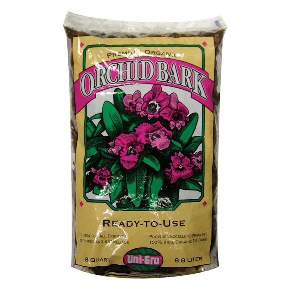 Uni-Gro Premium Organic Orchid Bark, 8 Quarts