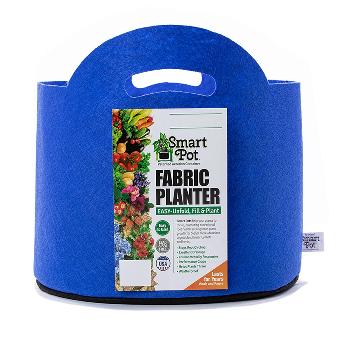 Smart Pot 3 Gallon Fabric Planter (with Handles), Blueberry