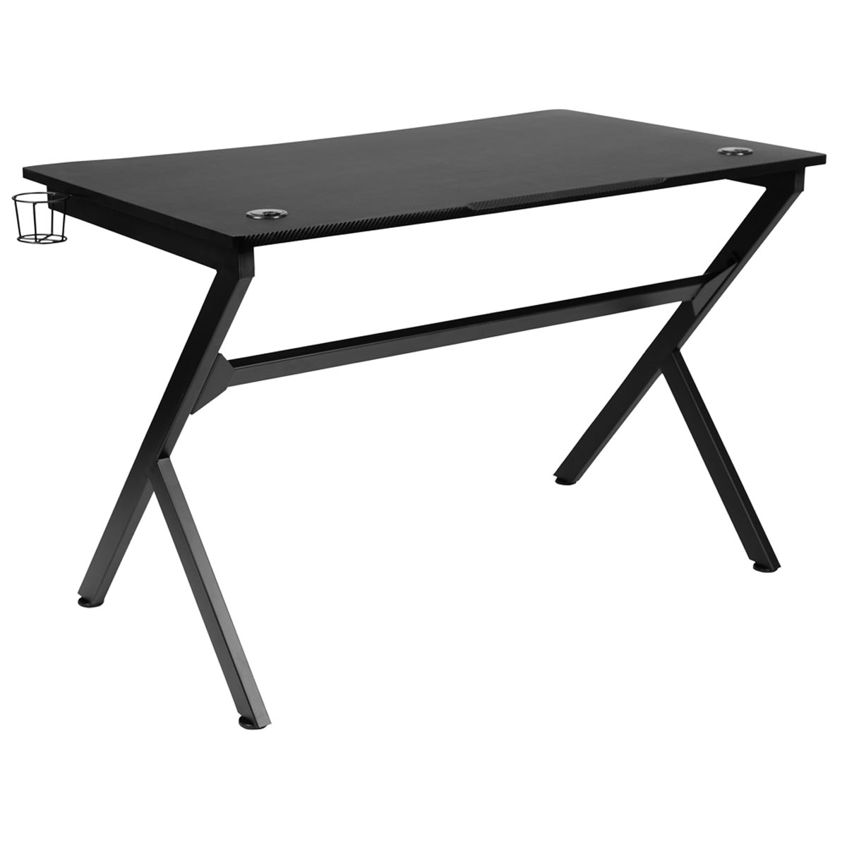45.25 in. Wide Computer Gaming Desk with Cupholder & Headphone Hook