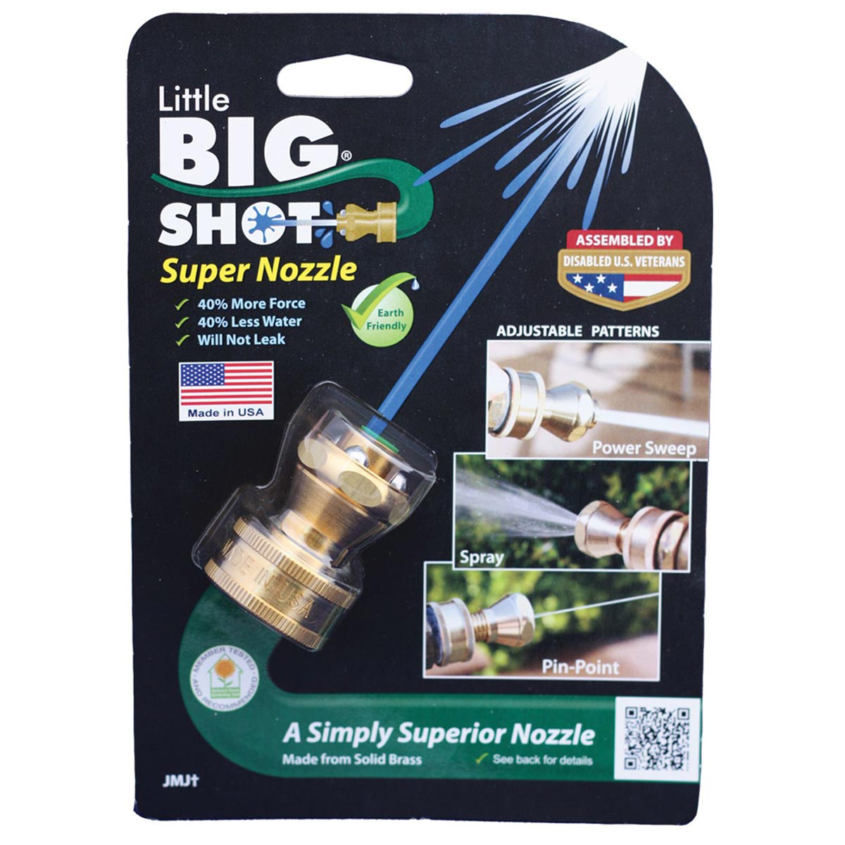 Little Big Shot Brass Adjustable Super Water Hose Nozzle