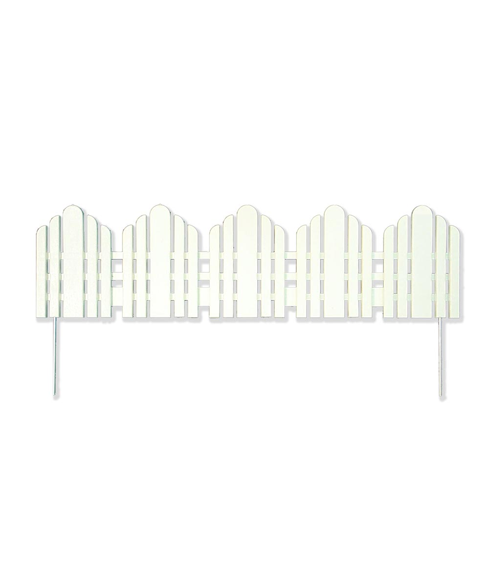 22 in. Long x 6 in. High White Adirondack Landscape Border