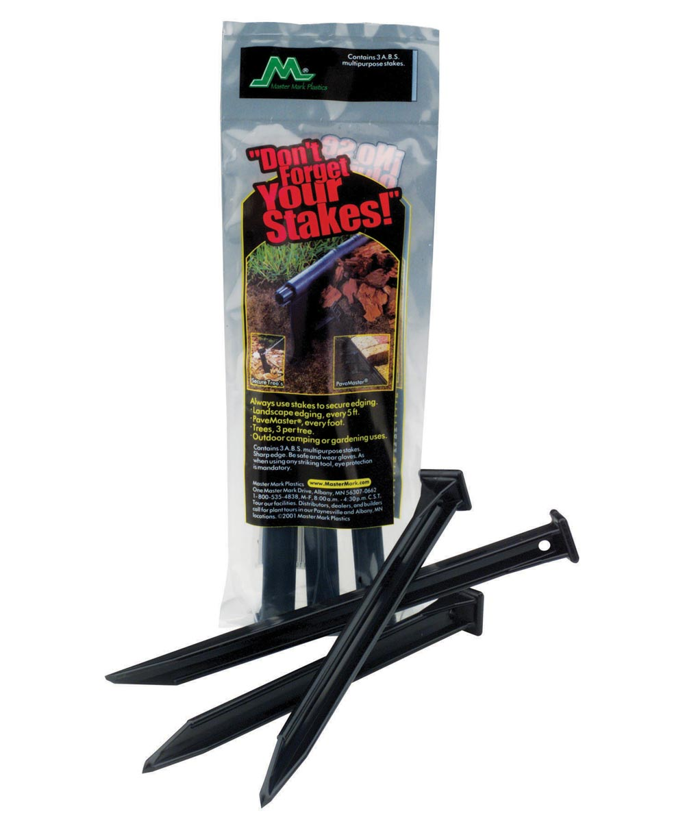 10 in. Polypropylene ABS Anchor Stakes, 3 Pack