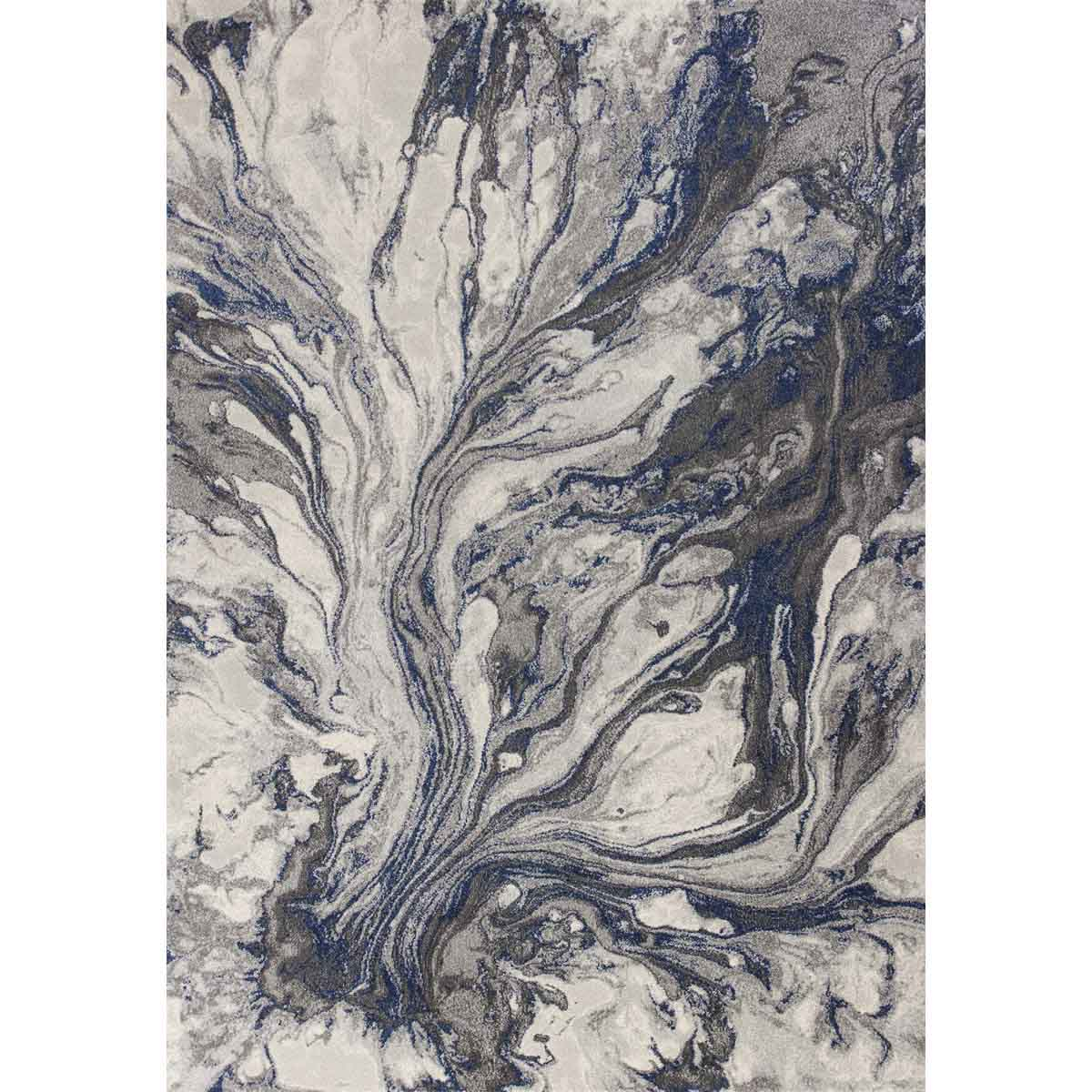 KAS 5 ft. 3 in. x 7 ft. 7 in. Illusions Grey Watercolors Area Rug