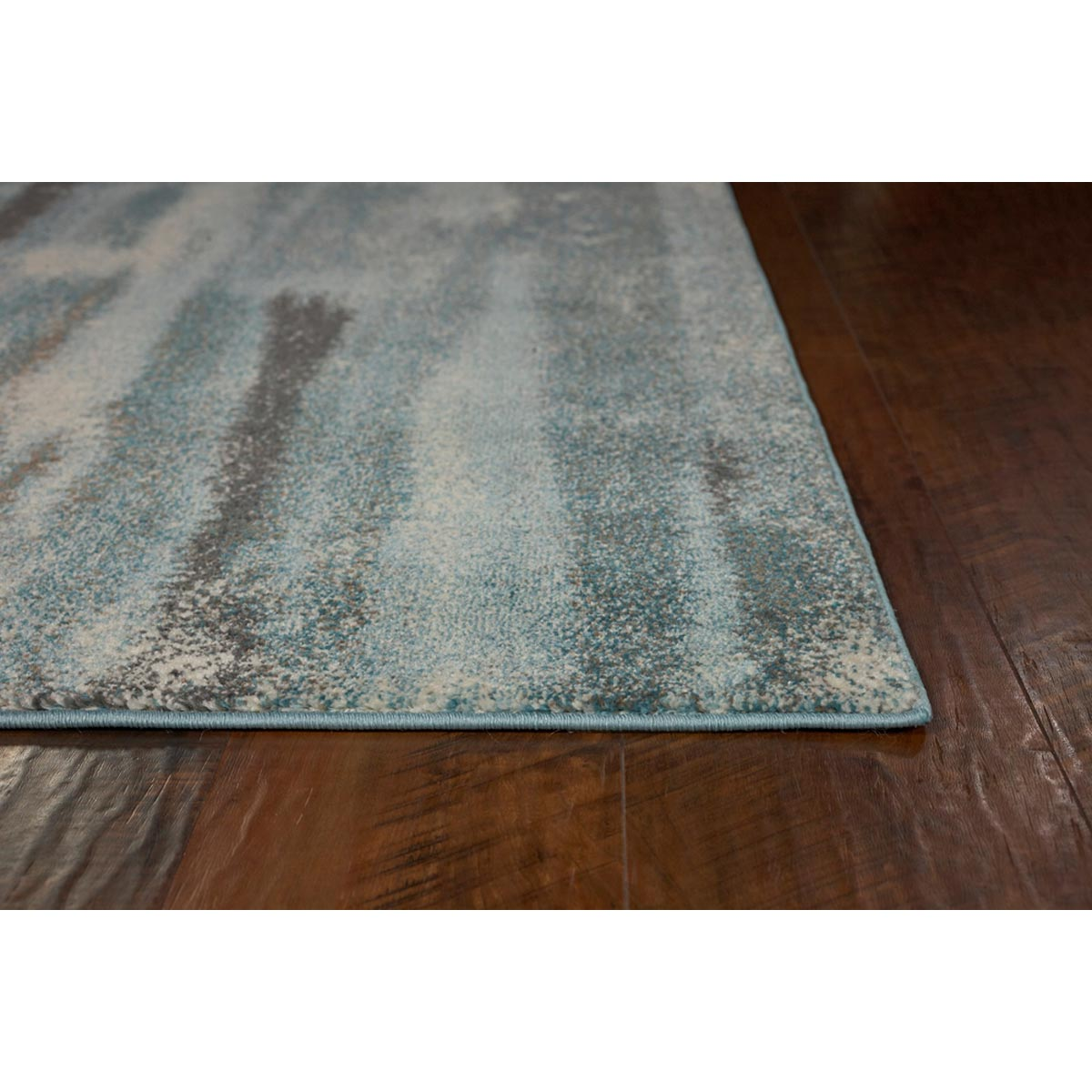 KAS 5 ft. 3 in. x 7 ft. 7 in. Illusions Teal Moderne Area Rug