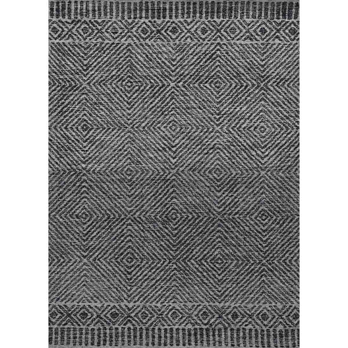 KAS 5 ft. x 7 ft. Hudson Grey/Black Retreat Area Rug