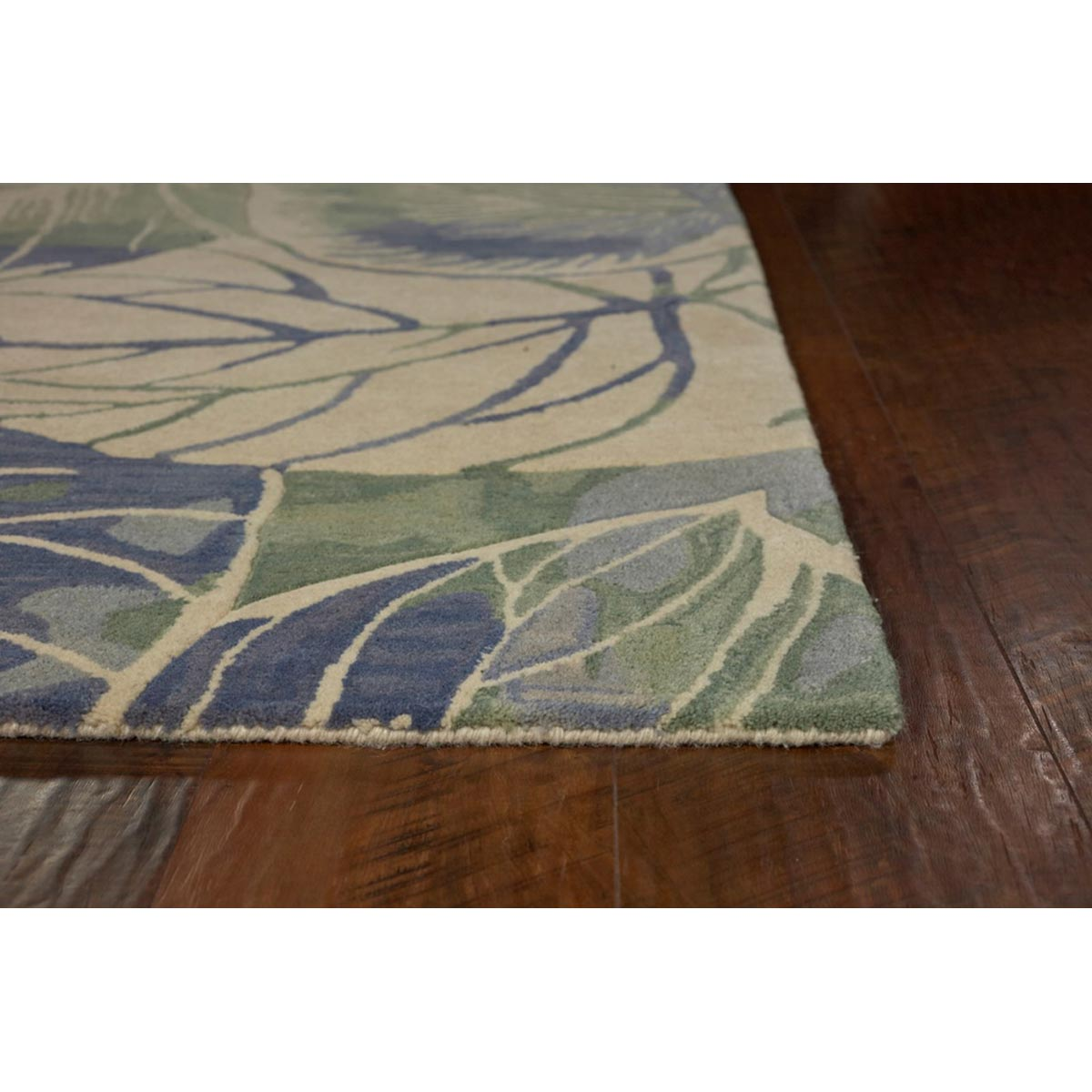KAS 5 ft. 3 in. x 8 ft. 3 in. Sparta Blue/Green Silhouette Area Rug