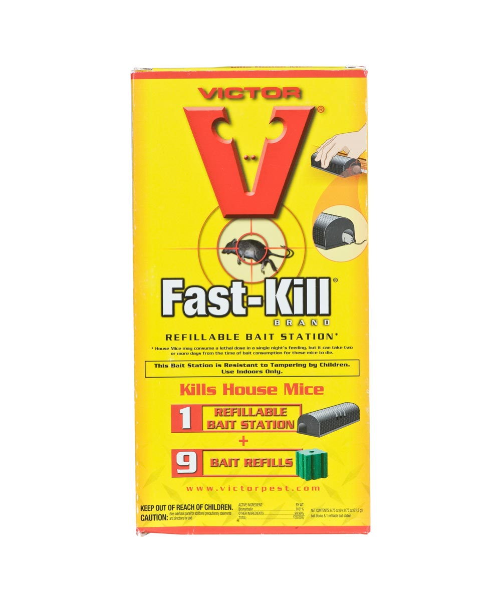 Victor Fast-Kill Non-Anticoagulant Refillable Single-Feed Bait Station, 6.75 oz., Solid, Mild