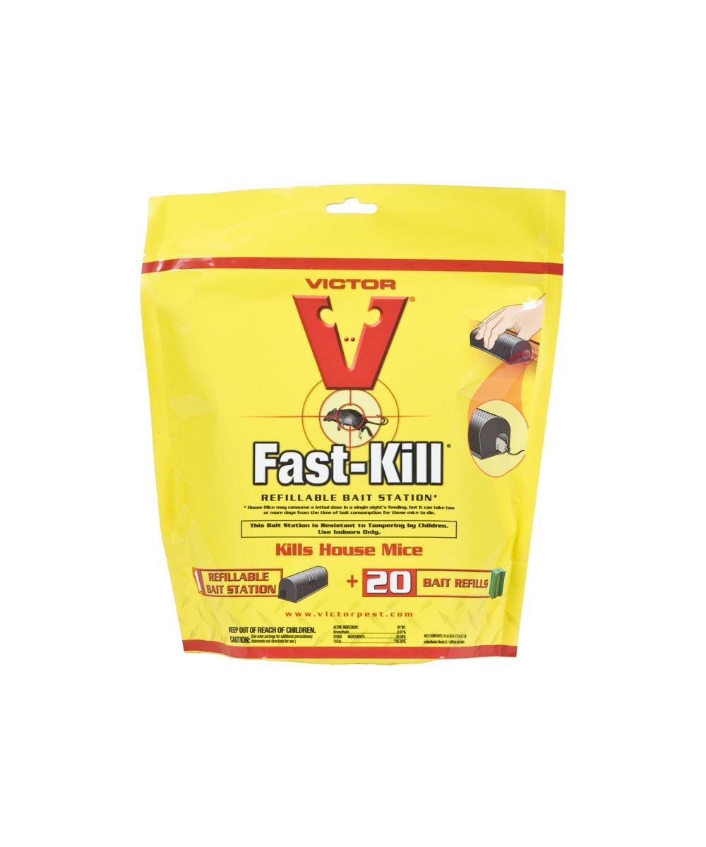 Victor Fast-Kill Non-Anticoagulant Refillable Single-Feed Bait Station, 15 oz., Solid, Mild
