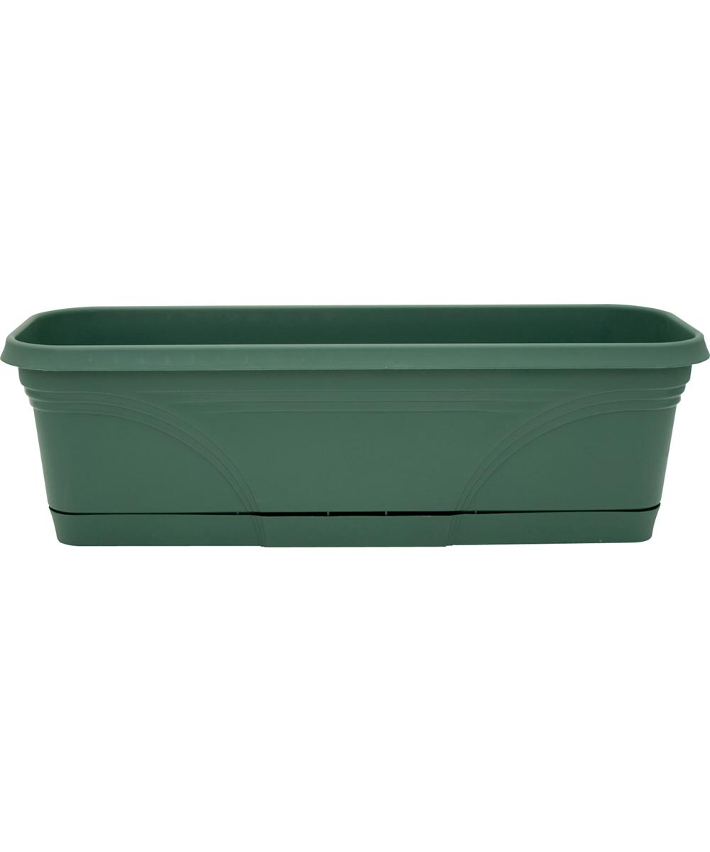 24 in. Fern Rolled Rim Window Boxes With