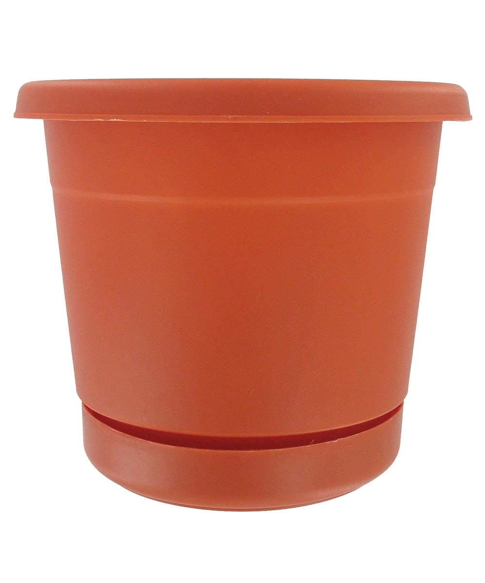 8 in. Terracotta Rolled Rim Planters