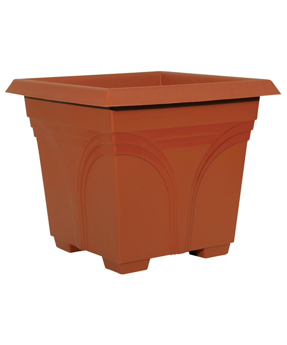 15 in. Terra Cotta Medallion Deck Planter
