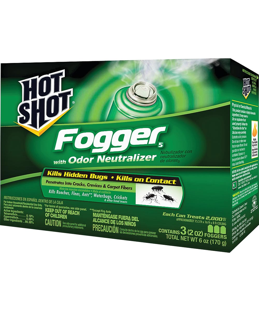Hot Shot Insect Fogger, 2 oz., Pyrethroid Nozzle