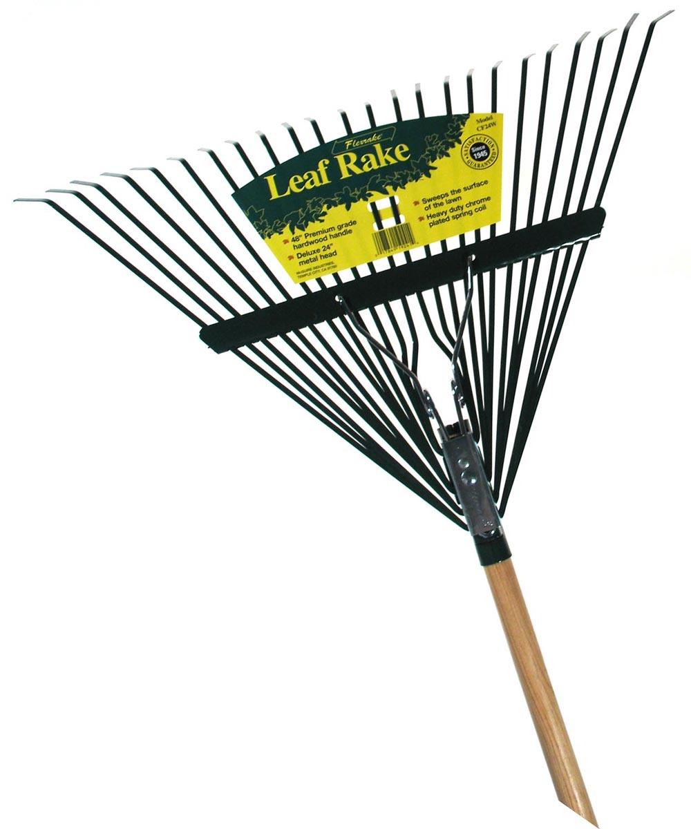 48 in. Handle 24 in. Metal Head Leaf Rake