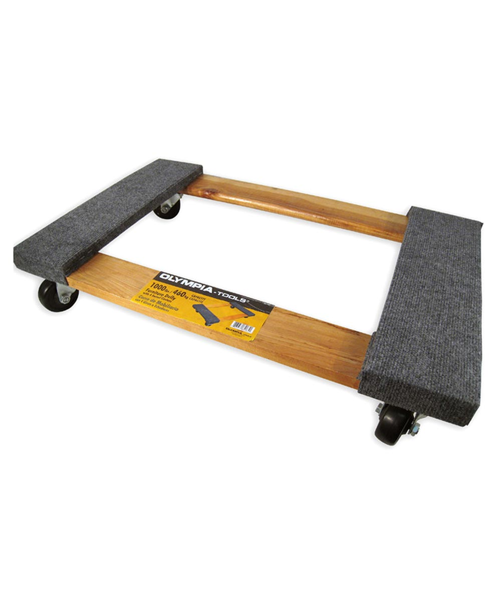 18.5 in. x 5.5 in. x 30.25 in. Furniture Dolly With 4 Swivel Casters