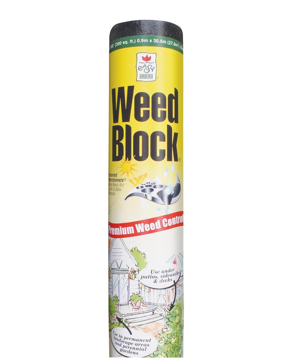 Weed Block Weed Landscape Fabric, 6 ft W x 50 ft. (L), Polyethylene, Black