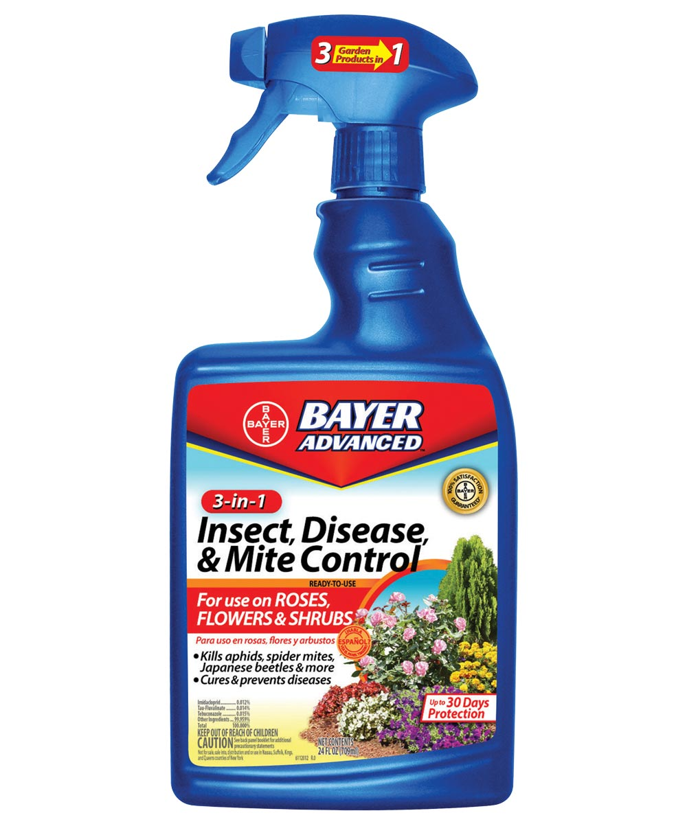 Bayer Advanced 3-in-1 Insect, Disease & Mite Control, 24 oz. Ready-to-Use Spray