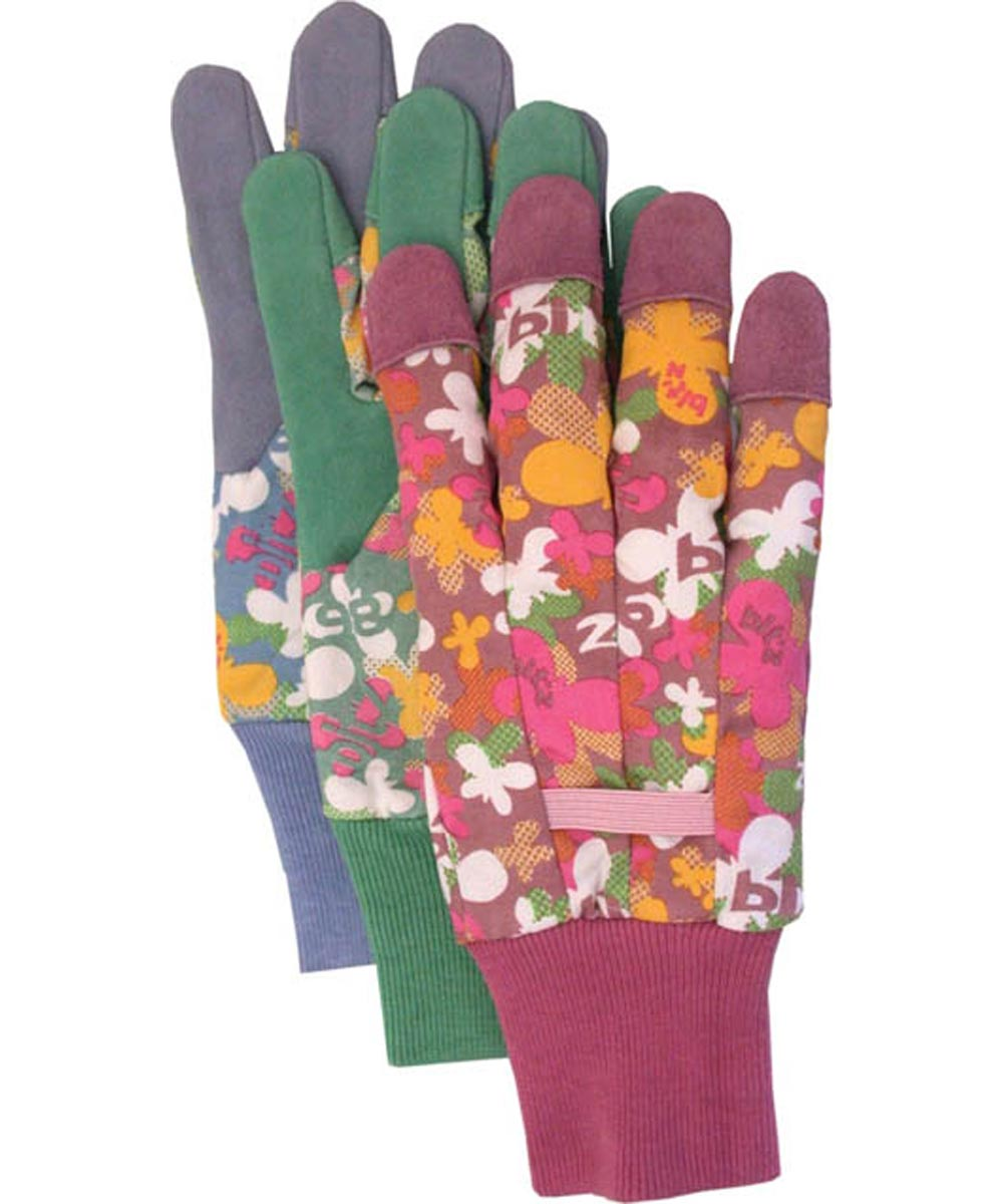 Ladies Split Leather Palm Gloves Assorted