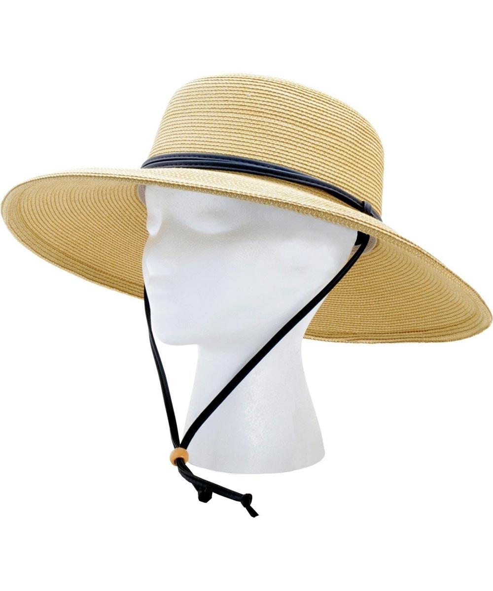 Size 1 Light Brown Wide Brim Braided Hat