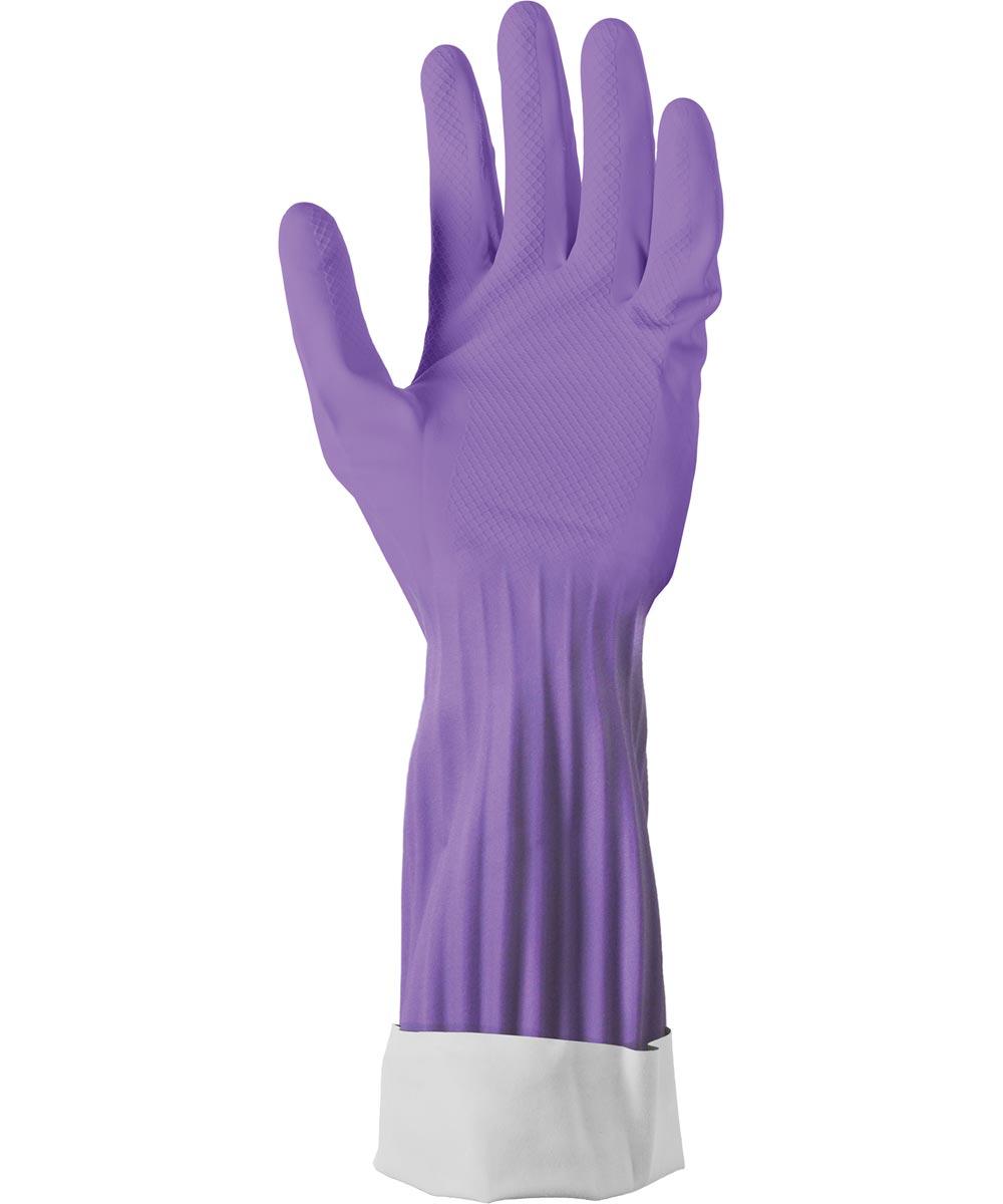 Small Soft Scrub Premium Defense Purple Rubber Gloves