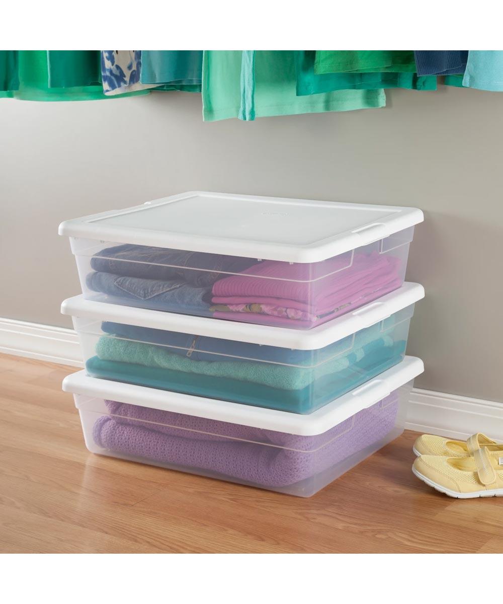 Sterilite 28 Quart Storage Box, Clear