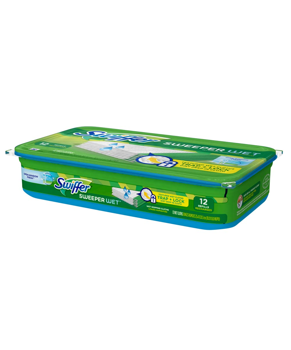 Sweeper Wet Open-Window Fresh Mopping Pad Refills 12 Count