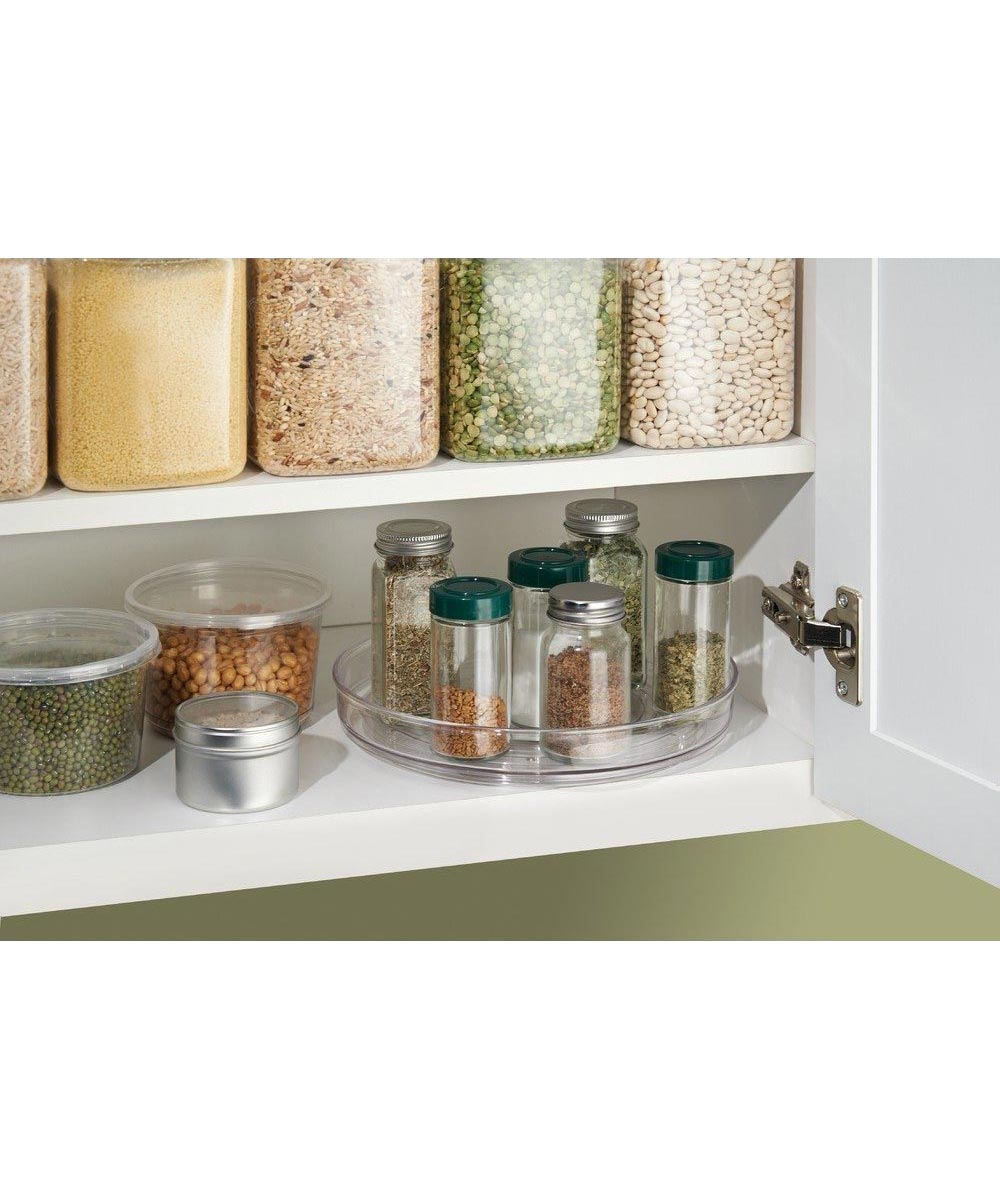 Linus 9 Inch Lazy Susan Turntable, Clear