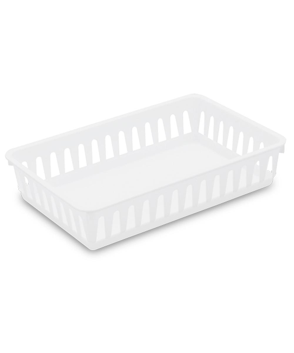 Small Storage Tray, White