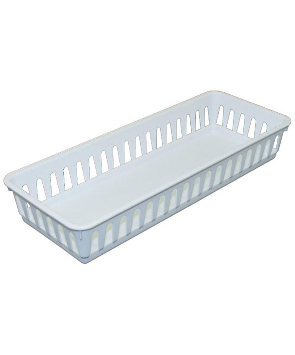 Slim Storage Tray, White