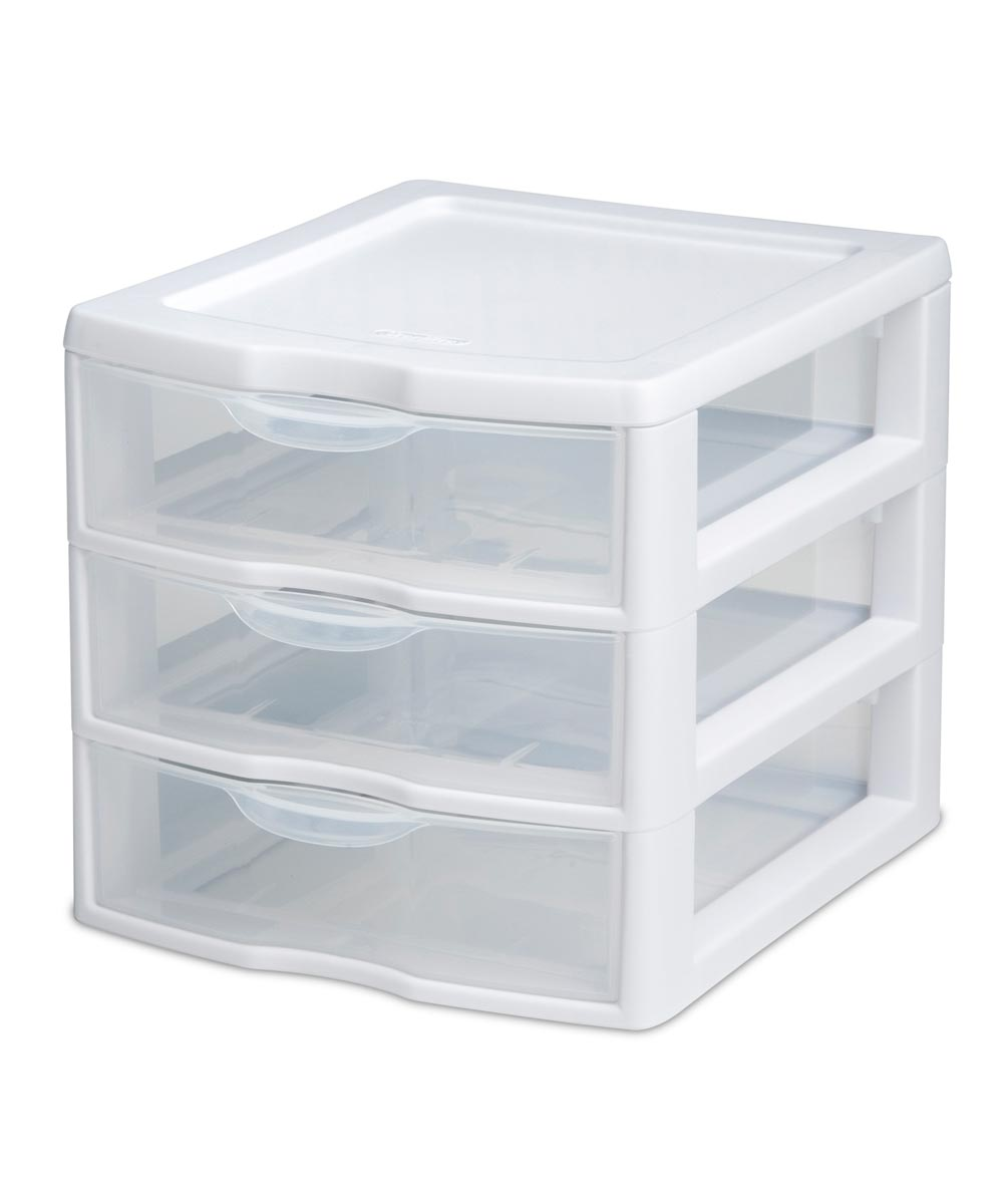 3 Drawer Clear Mini Unit