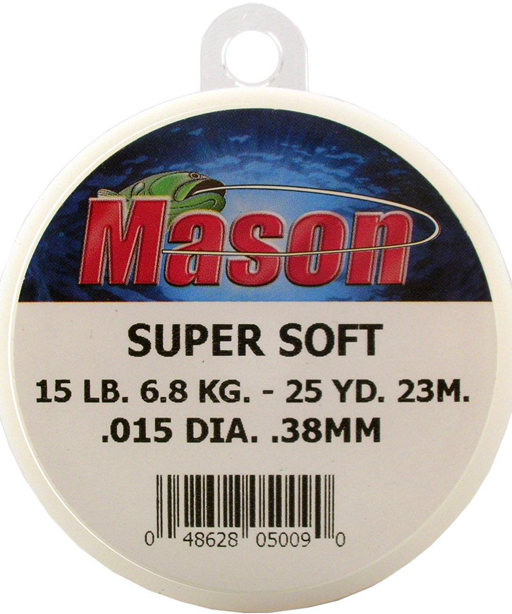 25 Yard 15 lb. SUPER SOFT Fishing Line Leader Spool