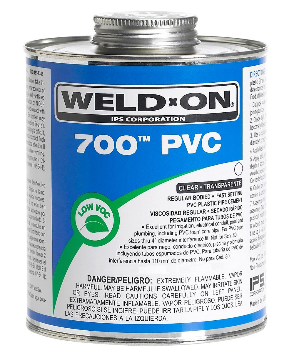 1/2 Pint Clear 700 PVC Cement