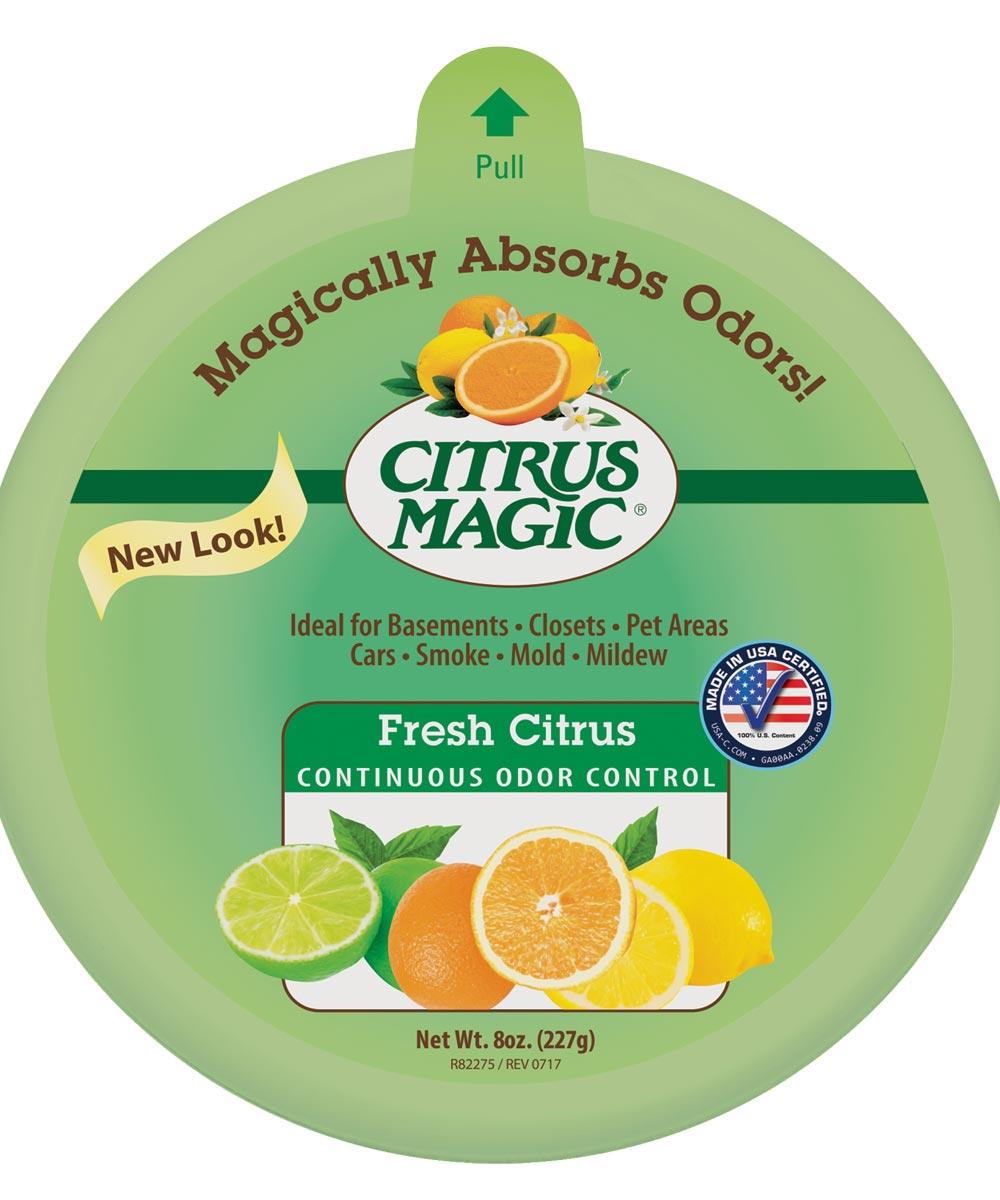 Citrus Magic 6PK Odor Absorbing Air Freshener, 8 oz., Fresh Citrus, Solid