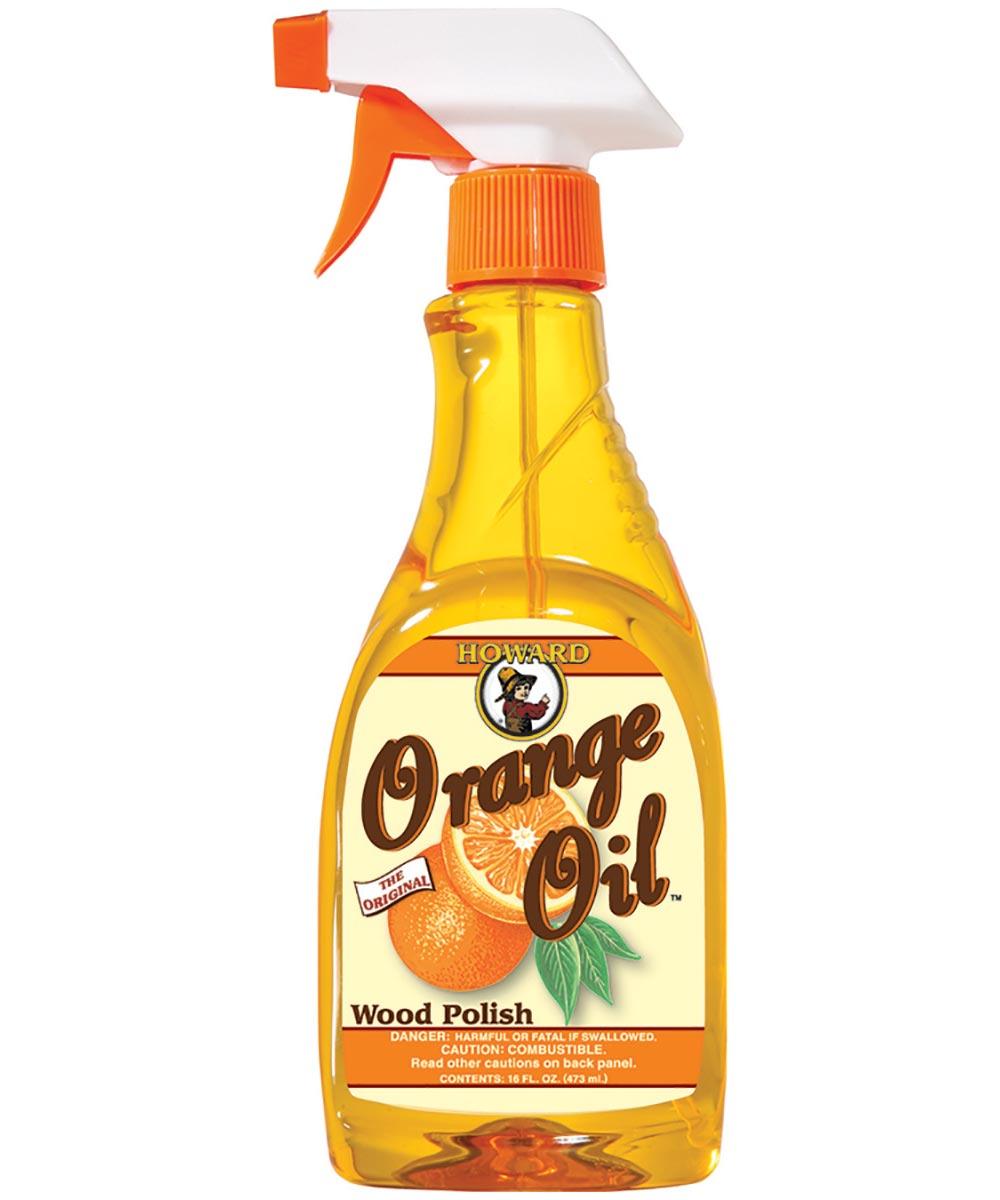 Furniture Polish Howard Orange Oil Wood Polish, 16 oz. Bottle, Orange, Liquid